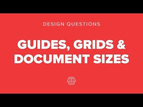 Q1 - Guides, Grids & Document sizes [ Web Design Tutorial ]