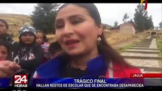 Jauja: encuentran cadáver de escolar que estaba desaparecida