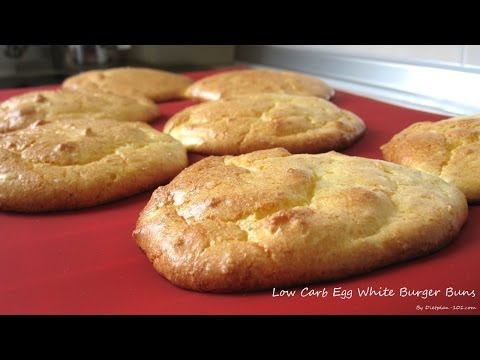 Low Carb Egg White Burger Buns (South Beach Diet Phase 1) | Dietplan-101.com