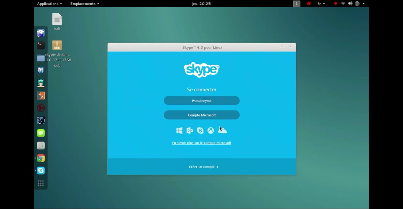 how to install skype on kali linux 2 0 2017 - YouTube