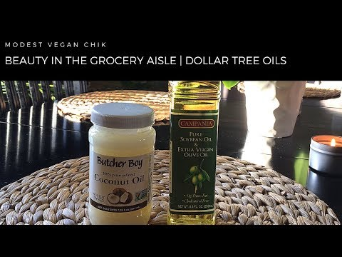 Beauty In The Grocery Aisle | Dollar Tree Oils | Coconut Oil | Olive Oil