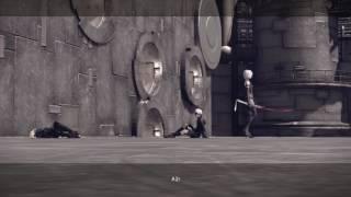 Nier: Automata Route C - God Box Obtain Keys: A2 Kills Operator 210 Saving 9S Dialogue Cutscene