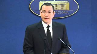 Primul-ministru Victor Ponta si-a prezentat demisia