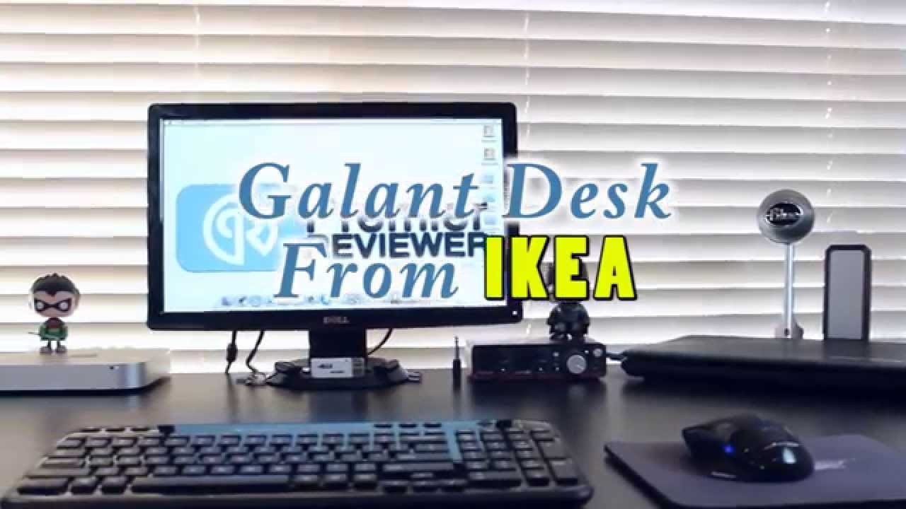 Galant Desk From IKEA   Build   YouTube