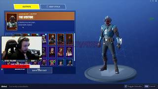 FORTNITE | NEW BLOCKBUSTER VISITOR SKIN, CUSTOMIZATION! UNLOCKED! (MUST SEE)