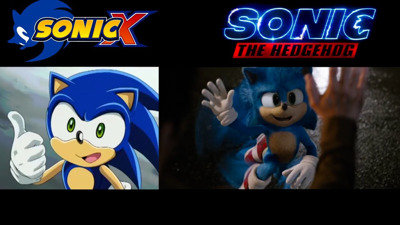Sonic Movie Trailer Vs Sonic X Side By Side Youtube