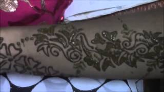 arabic mehndi (henna) - step by step tutorial design 1