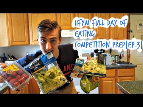 IIFYM Low Calorie High Volume Day Of Eating|CompetitonPrep|EP. 3|
