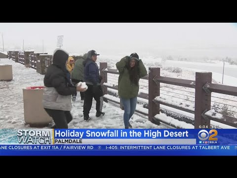 Holiday Snowfall In The High Desert: Palmdale Gets Several Inches Of Snow