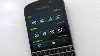 Never forget important occasions with CountDown for BlackBerry 10