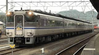 JR181系気動車 『ありがとうキハ181系』号 機関始動~米子出発 (27-Feb-2011) JR DMU Series181 Cold start.