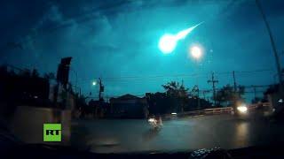 Una gran bola de fuego cae desde el cielo en Tailandia