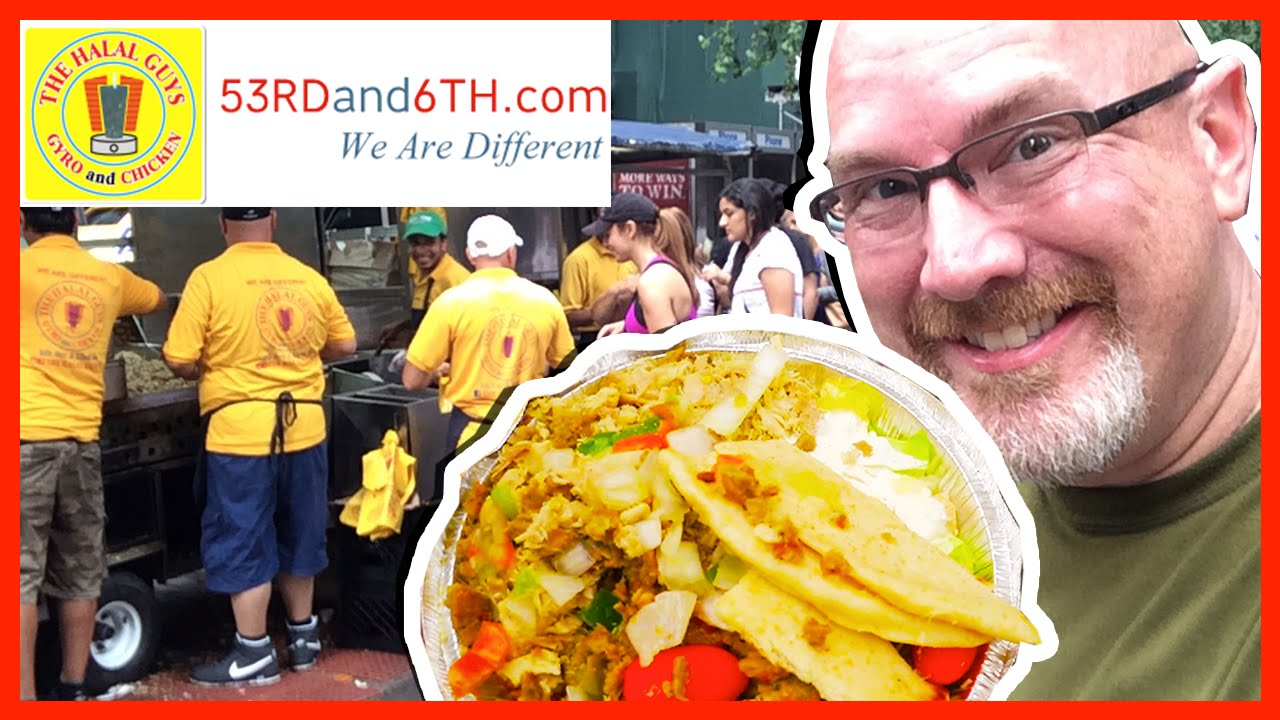The Halal Guys ❤️ NYC Street Food ❤️ Review Lamb & Chicken Platter