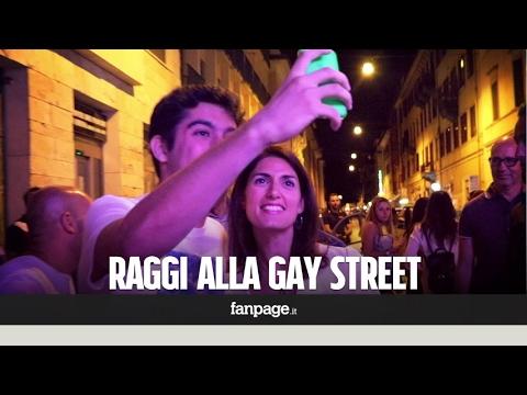 Roma, la Sindaca Raggi a sorpresa alla Gay Street