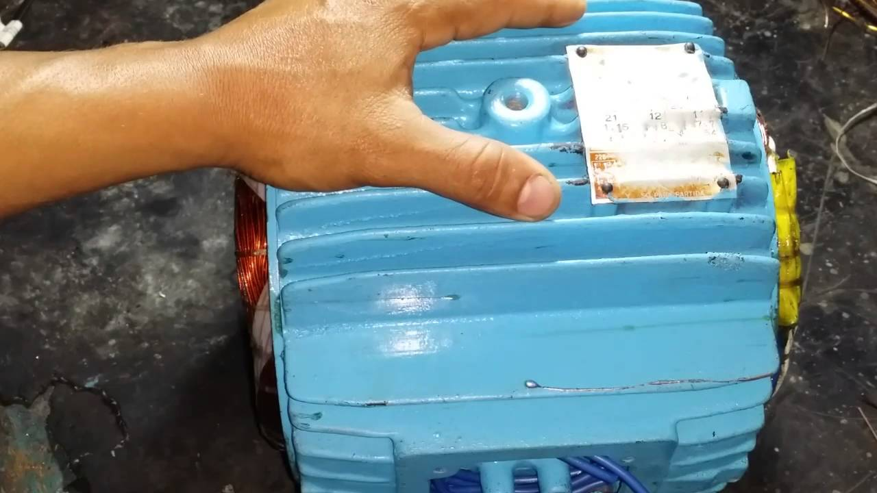 Esquema motor 7 5 cv 4 p los trif sico weg youtube for Motor piscina 0 5 cv