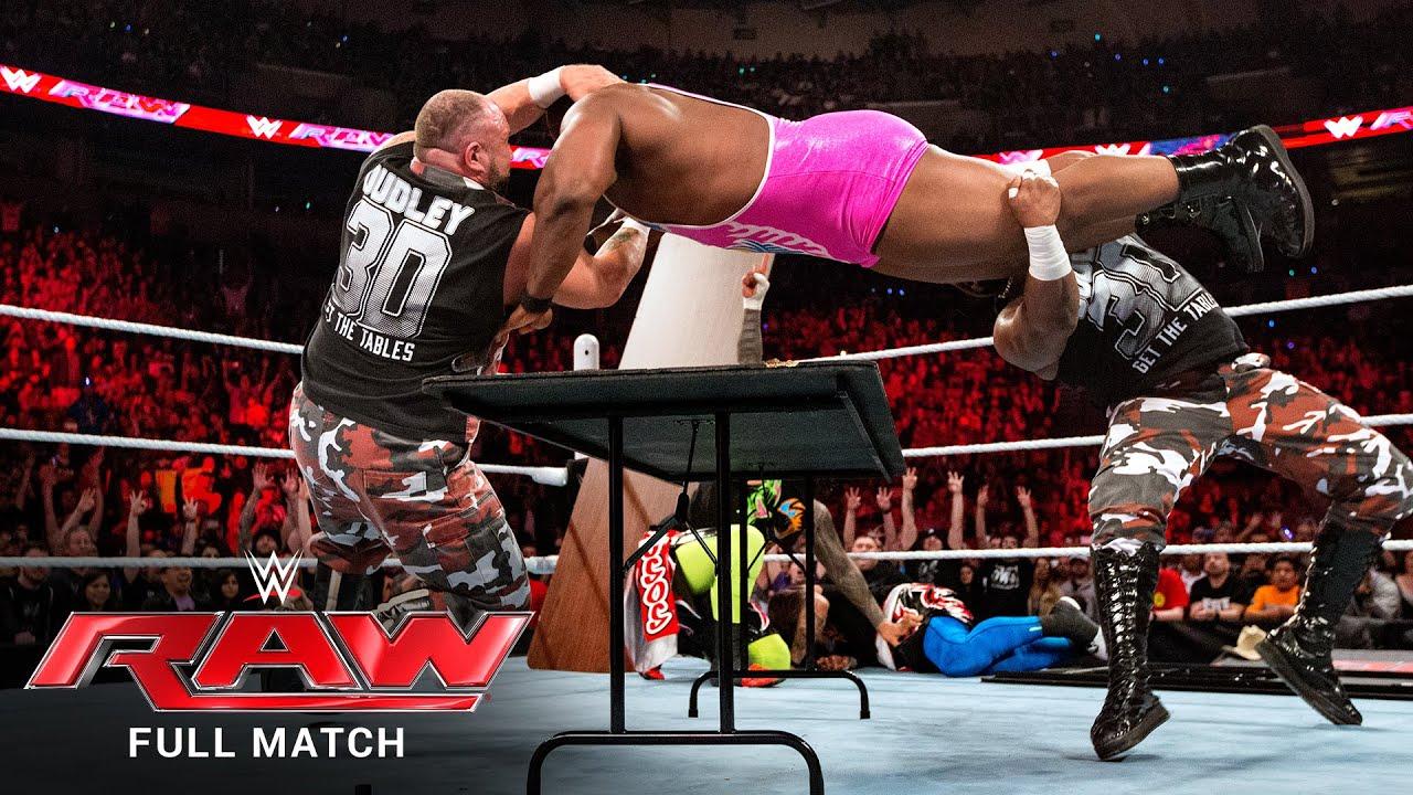 FULL MATCH - Usos & Dudley Boyz vs. New Day & Mark Henry – Tables Match: Raw, Feb. 8, 2016