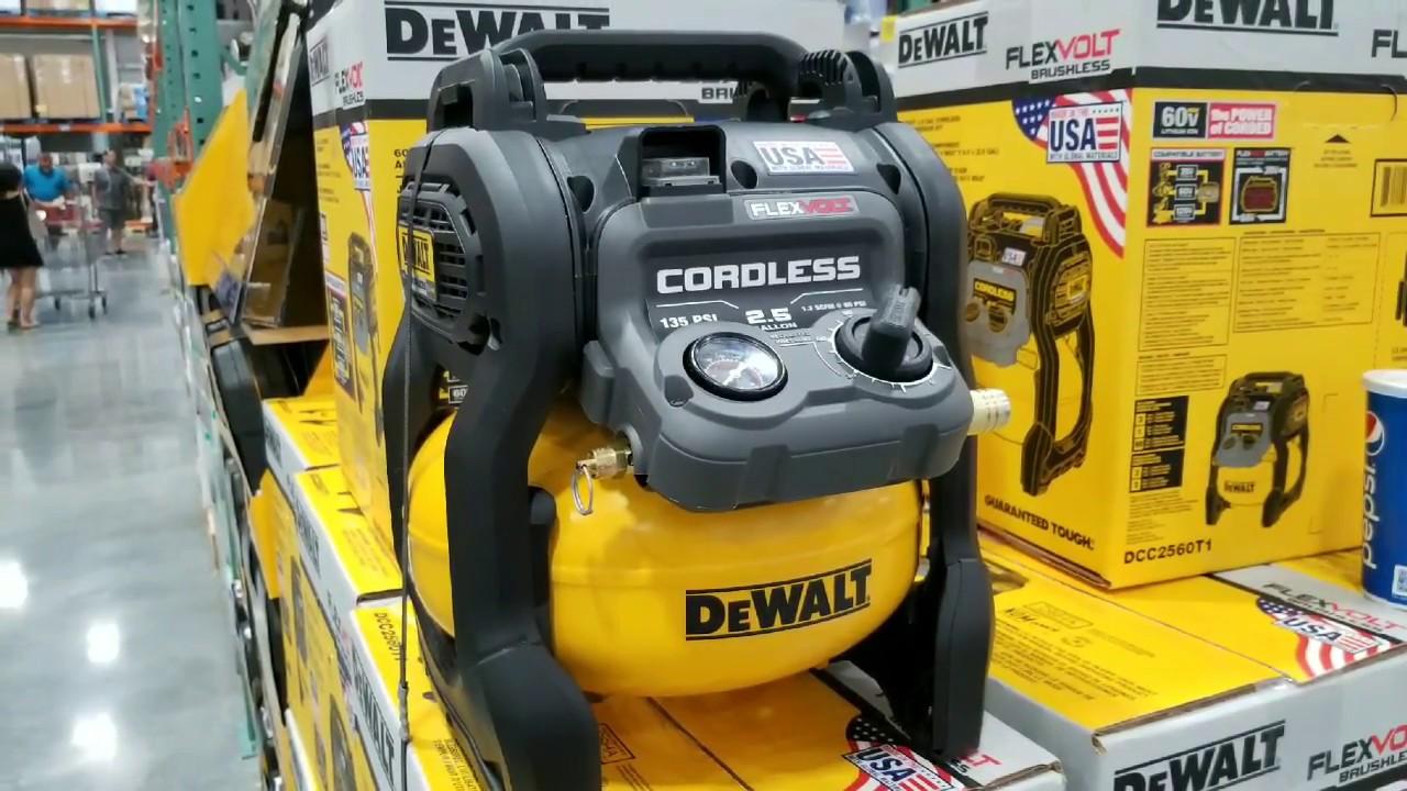 Costco Dewalt 2 5 Gallon Cordless Air Compressor 259