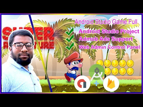 Android Studio Game Source Code Super Adventure Admob Ads  Free And Customize Bangla Tutorials