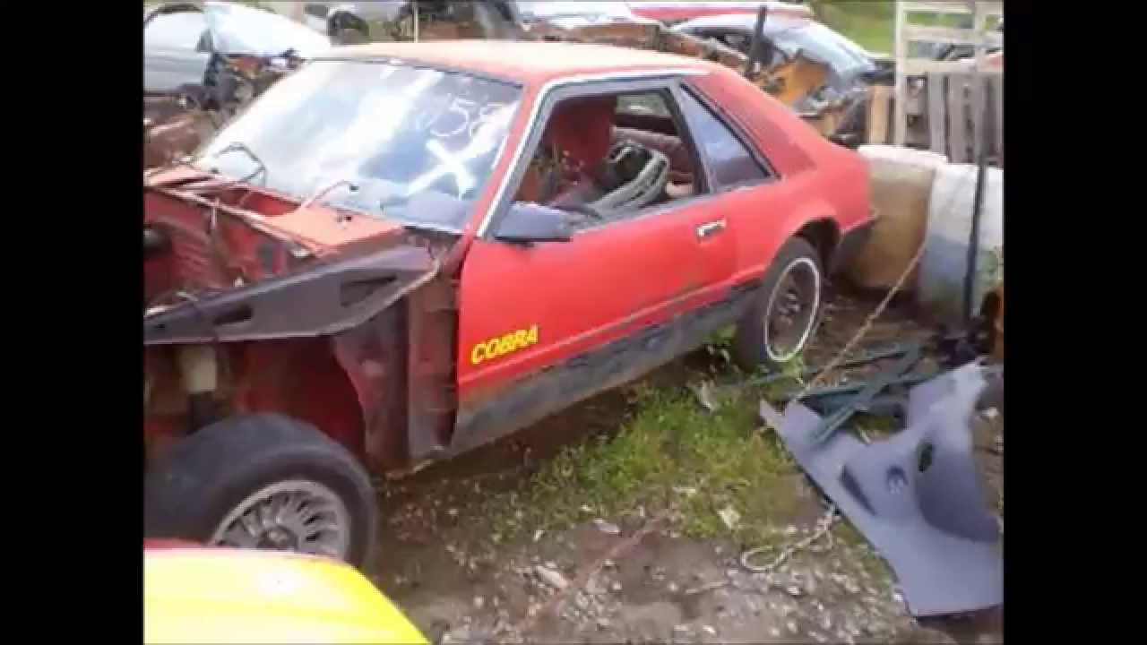 Used   Fox Body Parts Ford Mustang Salvage Restoration Junkyard Tour Sn New Edge For Sale