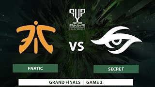 Fnatic vs Team Secret   Bo5   Grand Finals   PVP Esports Championship   Game 3