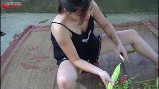 Красивые Девушки Готовят Лягушку || Как Приготовить Мясо Лягушки - Сельское Хозяйство В    | Ep 174