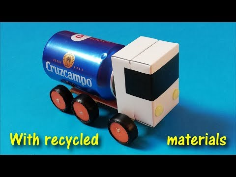How to make a truck with recycled materials