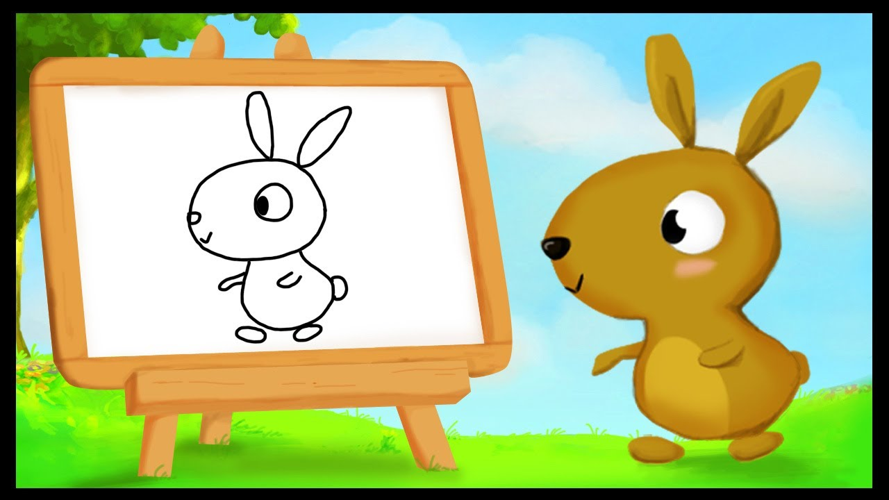 comment dessiner un lapin youtube. Black Bedroom Furniture Sets. Home Design Ideas