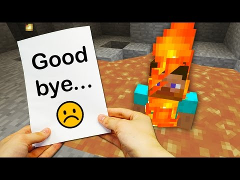 REALISTIC MINECRAFT - THE END OF STEVE... 😢
