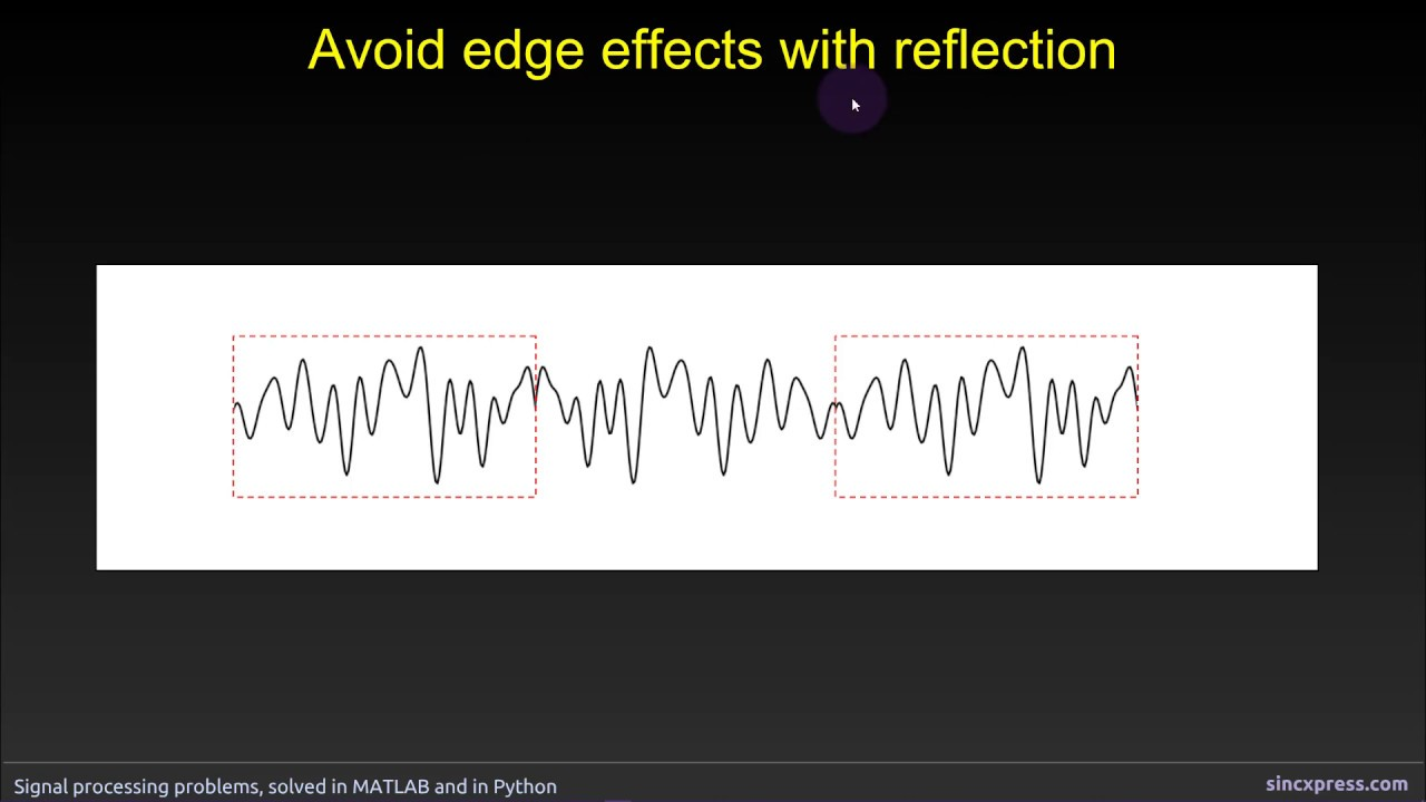Avoid edge effects with reflection