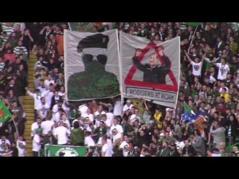 """Celtic 4 - Linfield 0 - Green Brigade """"Republican"""" and Brendan Banners - 19 July 2017"""