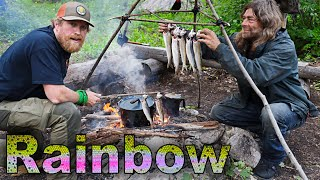 Catch And Cook Rainbow Trout Day 3 Of 30 Day Survival Challenge Canadian Rockies