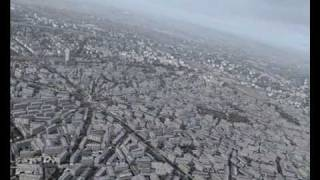 (FS2004) Helicopter flight over Paris with FranceVFR scenery CityPack