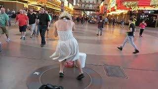 LAS VEGAS STRIP TO DOWNTOWN FREMONT STREET (Donut Bar , Golden Nugget , Pizza Rock)