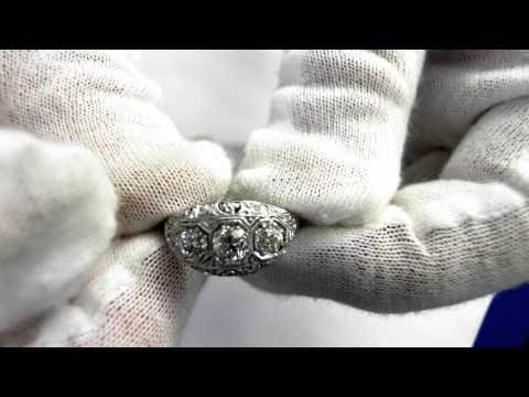 Edwardian Era Engagement Ring (circa 1915) - Platinum and Diamonds
