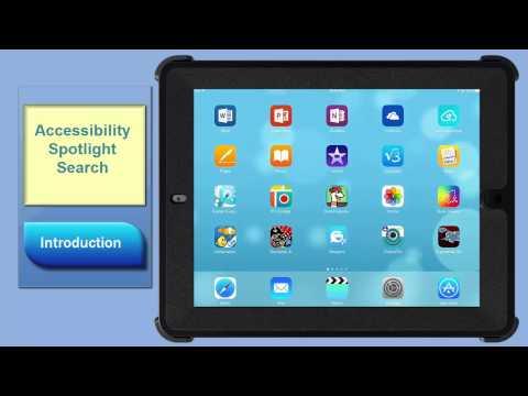 Accessibility  Spotlight Search Intro
