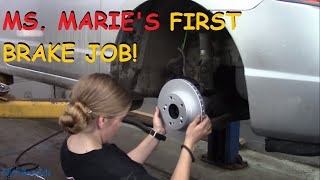 Ms. Marie Replaces Front Brakes On Her Civic