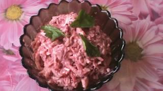 Салат из вареной свеклы.Маринованный лук и яйцо.Отличное сочетание