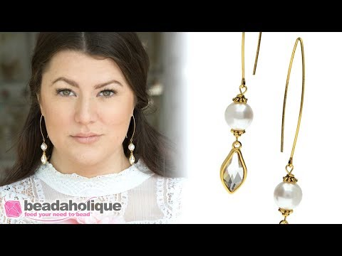 Quick, Easy & Elegant Wedding Jewelry: Timeless Pearl and Crystal Earrings