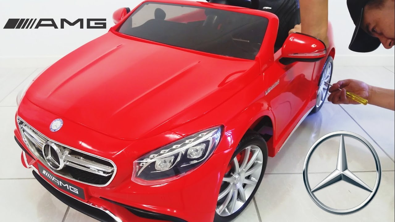 Mercedes Benz S63 Amg Ride On Car Toy 12 Volt Unboxing Diy Youtube