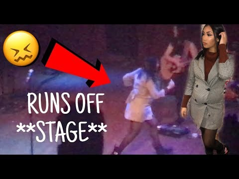 QUEEN NAIJA RUNS OFF STAGE DURING PERFORMANCE