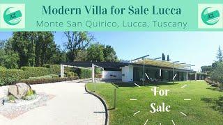 Villa for Sale Tuscany | Modern Villa with Pool Lucca Tuscany | AZ Italian Properties | Tuscan Villa