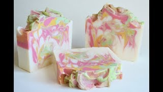 PLUMERIA~ Making & Cutting Cold Process Soap~