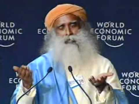 Sadhguru Jaggi Vasudev talks at the World Economic Forum ... Sadhguru