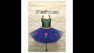 Anna Inspired Tutu Dress | Frozen Costume | DIY Tutu