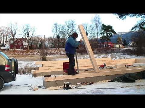 2/35: building a Post and Beam Garage - Wind Braces