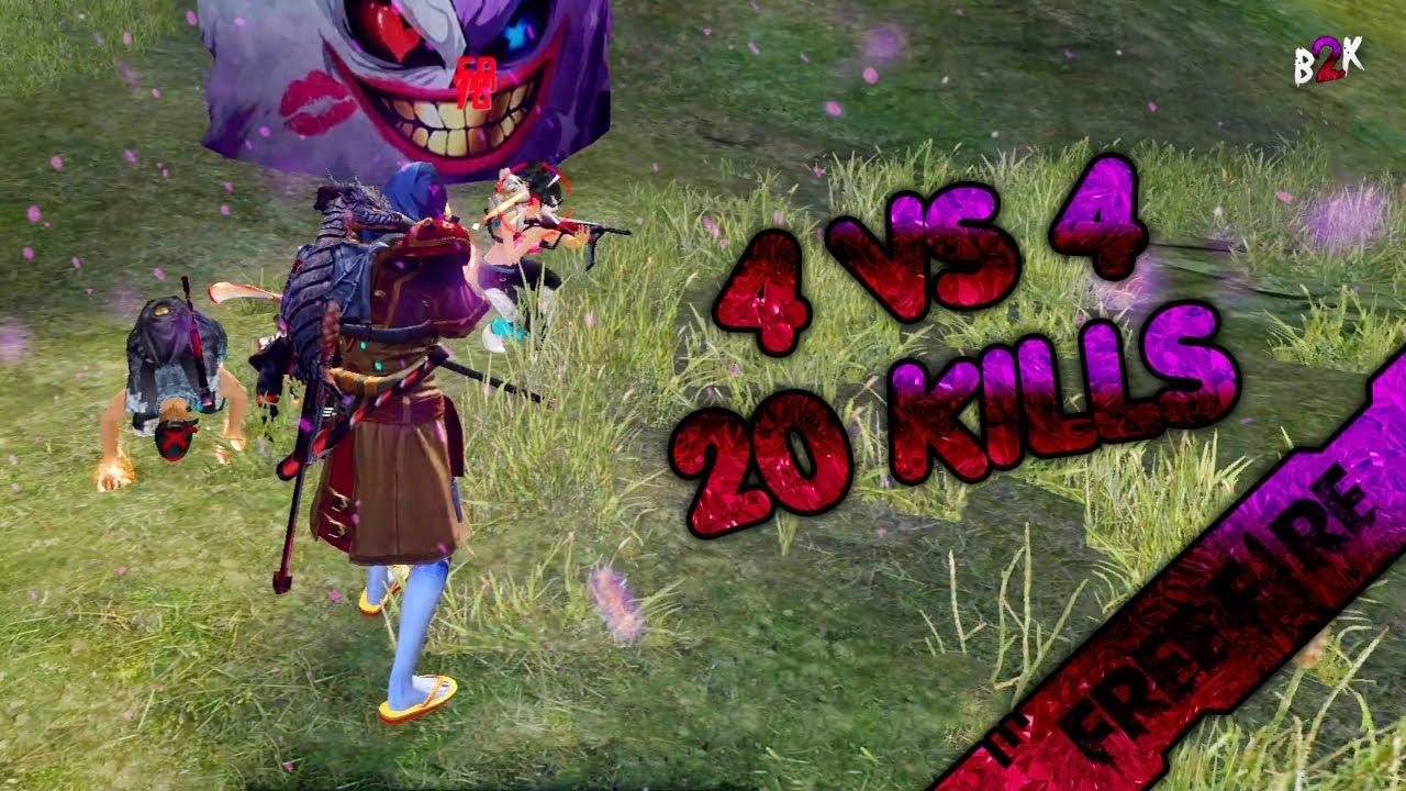 [B2K] CRAZY GAMEPLAY 4 VS 4 | DROPPED 20 KILLS