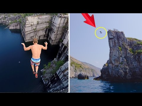 Most EXTREME Cliff Jumps on YouTube 2016-2017! (You Have Been Warned...)
