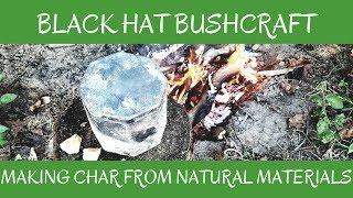Making Char from Natural Materials 🔥