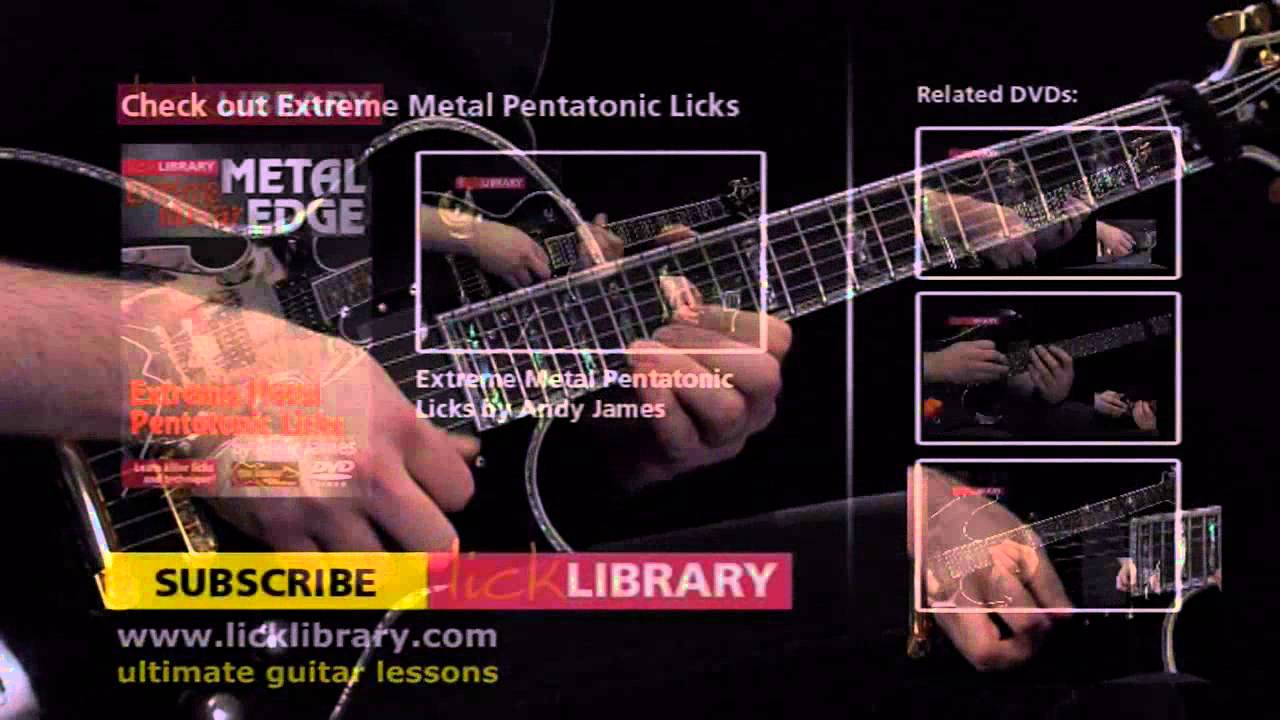Extreme Pentatonic Licks Performance with Andy James Licklibrary