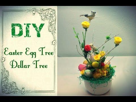 DIY Easter Egg Tree  - Dollar Tree Decorations